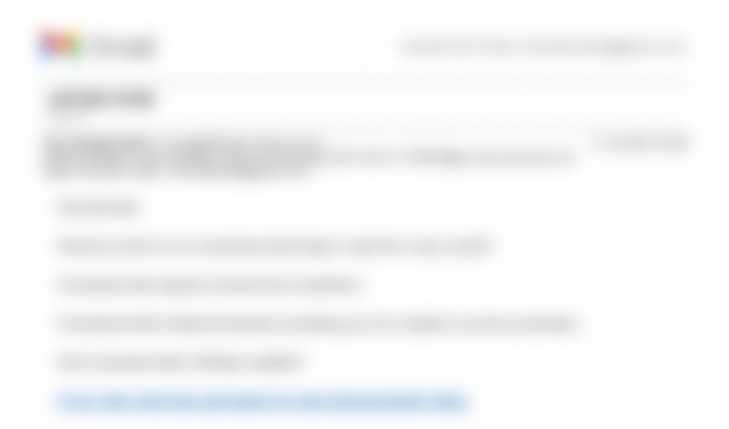 Blurred image of the email example that generated $40k in sales