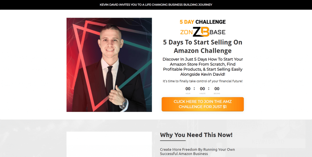 5-day challenge sales page copy sample. Click to see the full sales page and synopsis.
